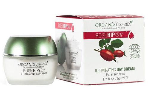 Švytėjimo odai suteikiantis dieninis kremas Organix Cosmetix Rosehip Oil, 50 ml