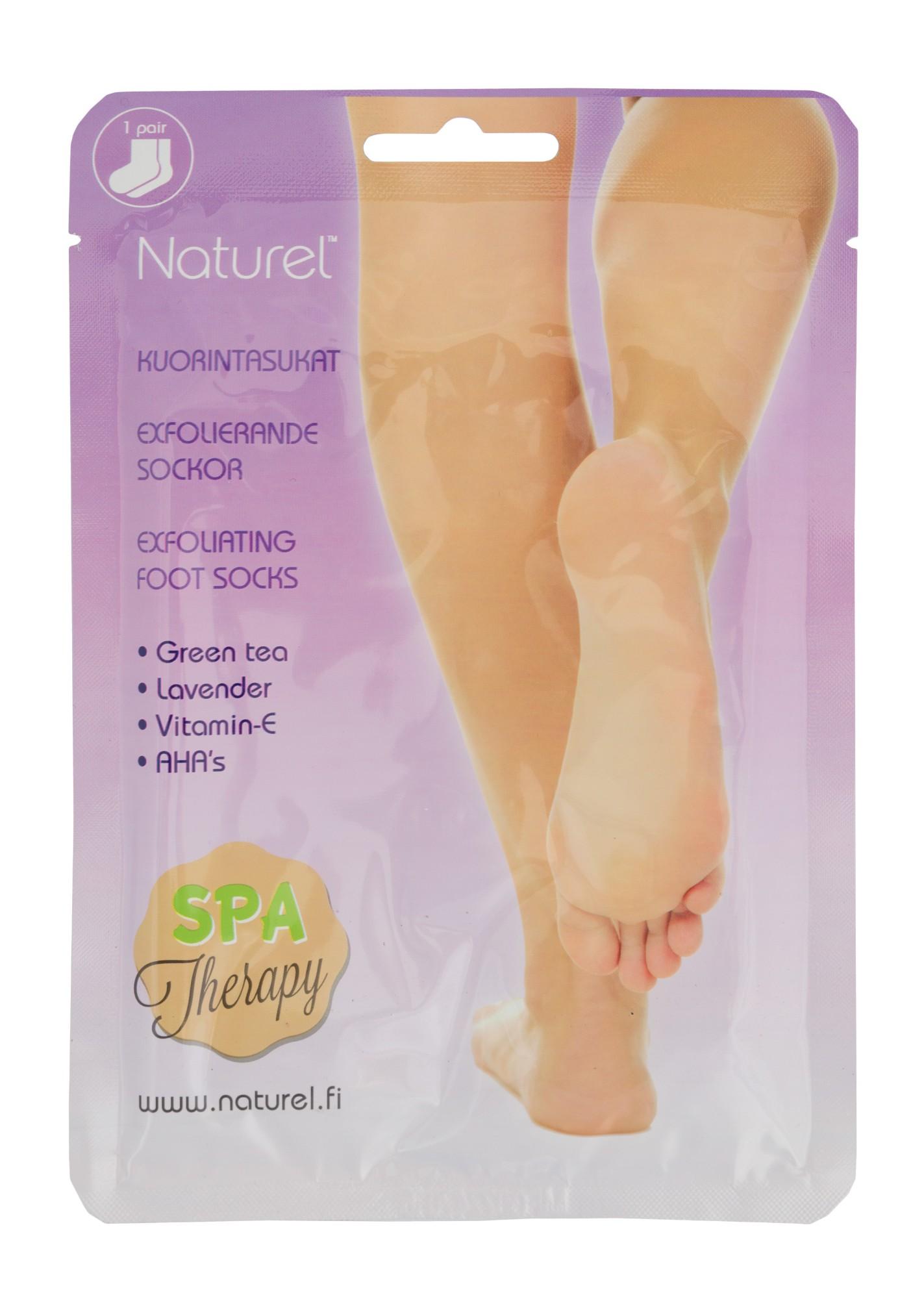 Šveičiamoji kojų kaukė – kojinės Naturel su AHA rūgštimis, žaliąja arbata ir vitaminu E, 20gx2