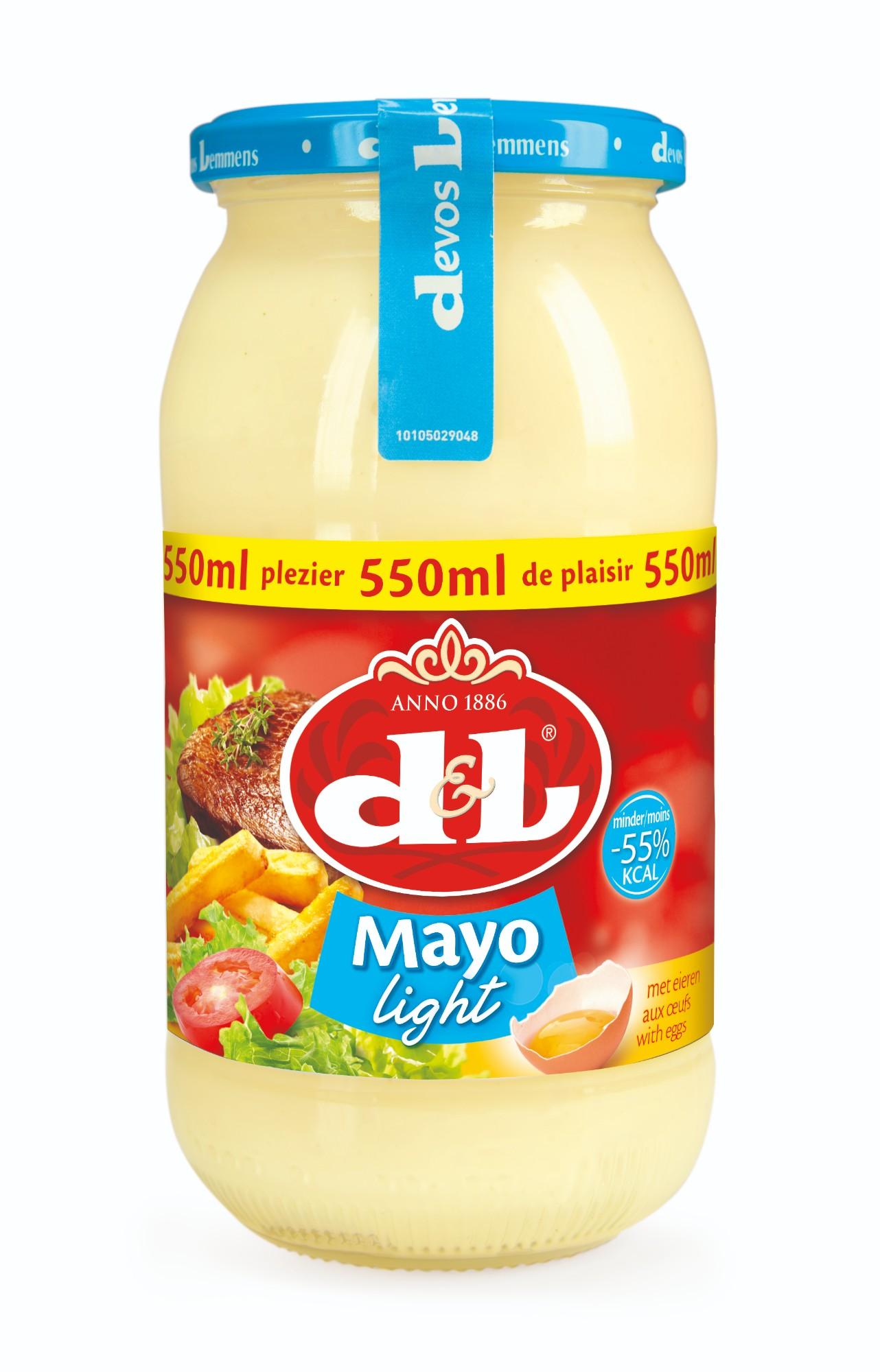 Neriebus majonezas su kiaušiniais, D&L, 550ml