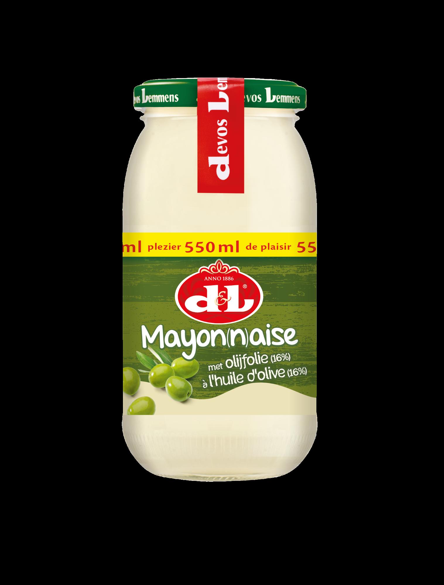 Majonezas su alyvuogių aliejumi (16%), D&L, 550ml