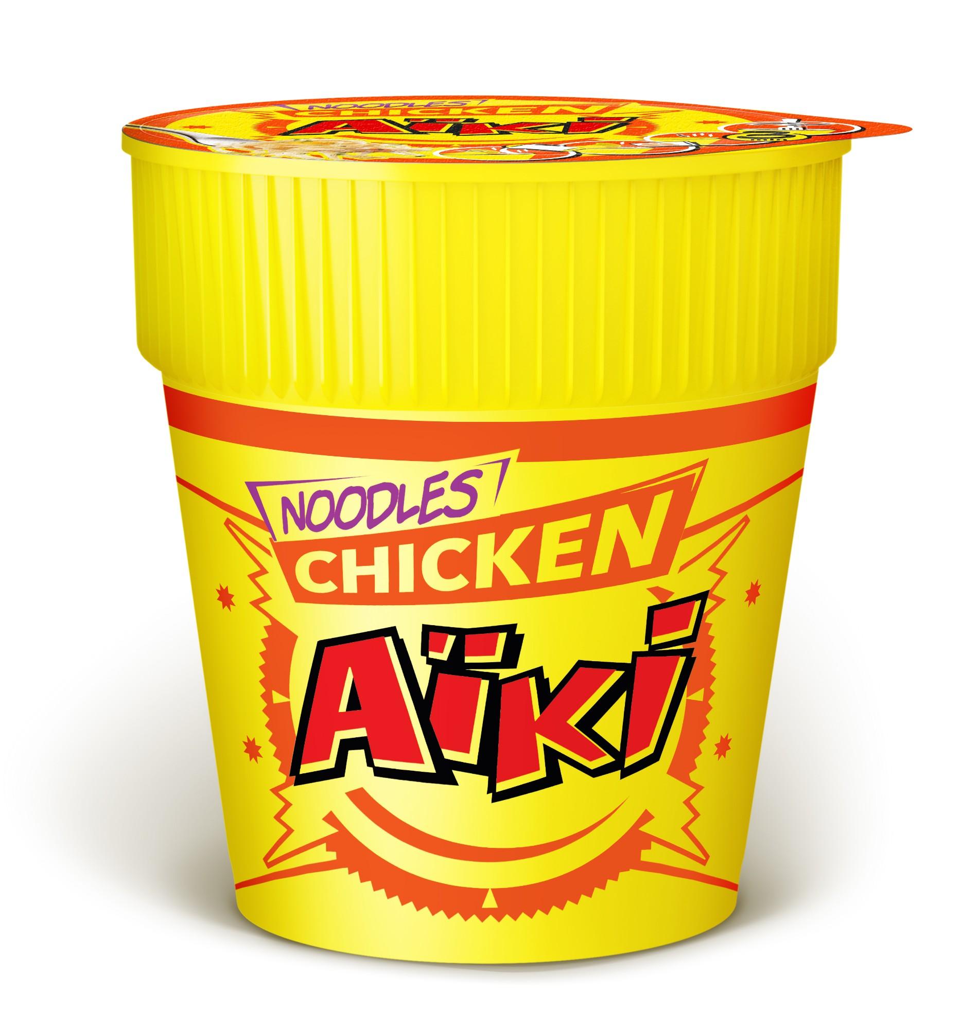 Greitai paruošiami makaronai su vištiena, AIKI, 1 indelis (73g)