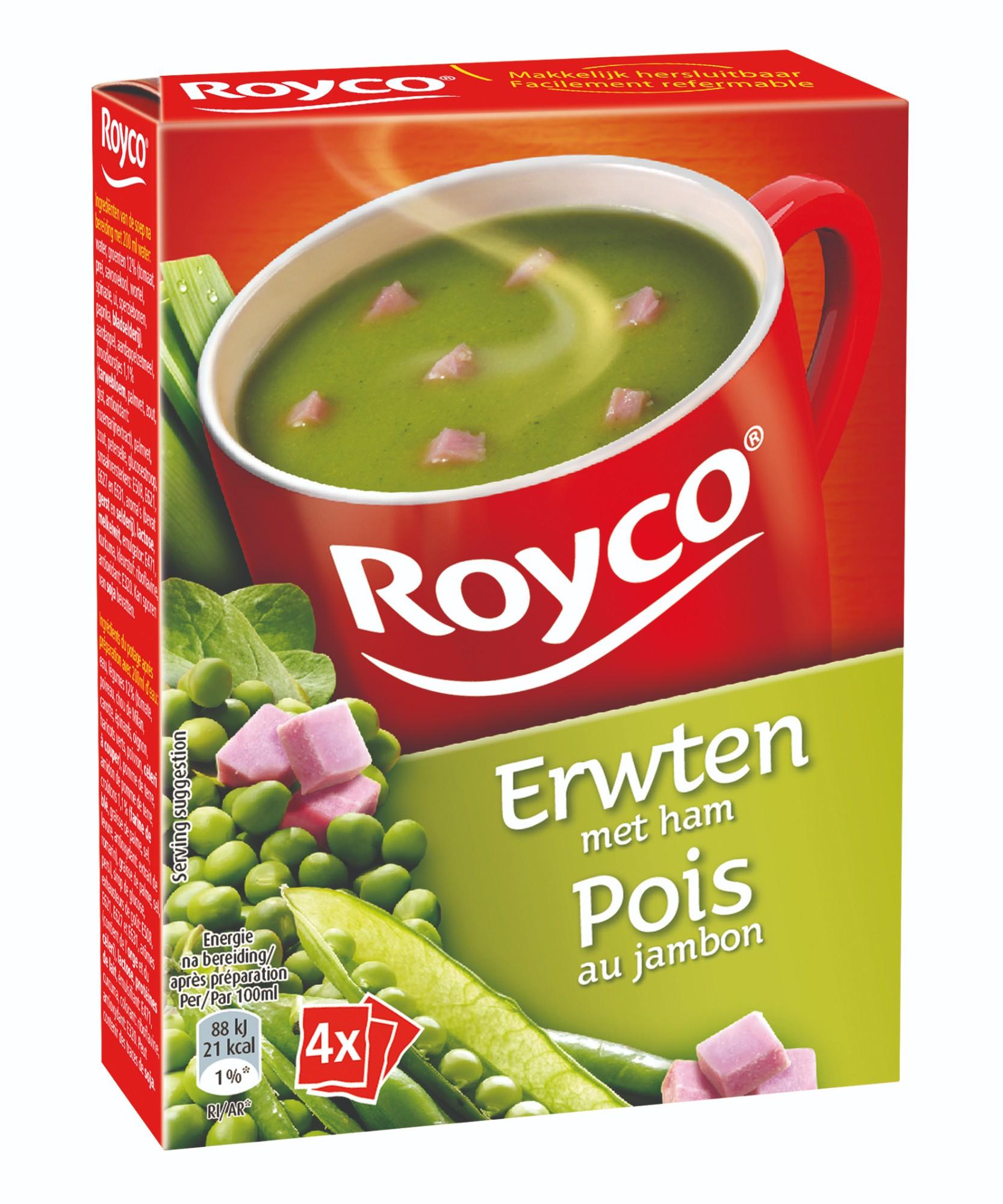 Greitai paruošiama žirnelių ir kumpio sriuba, ROYCO, 4pak