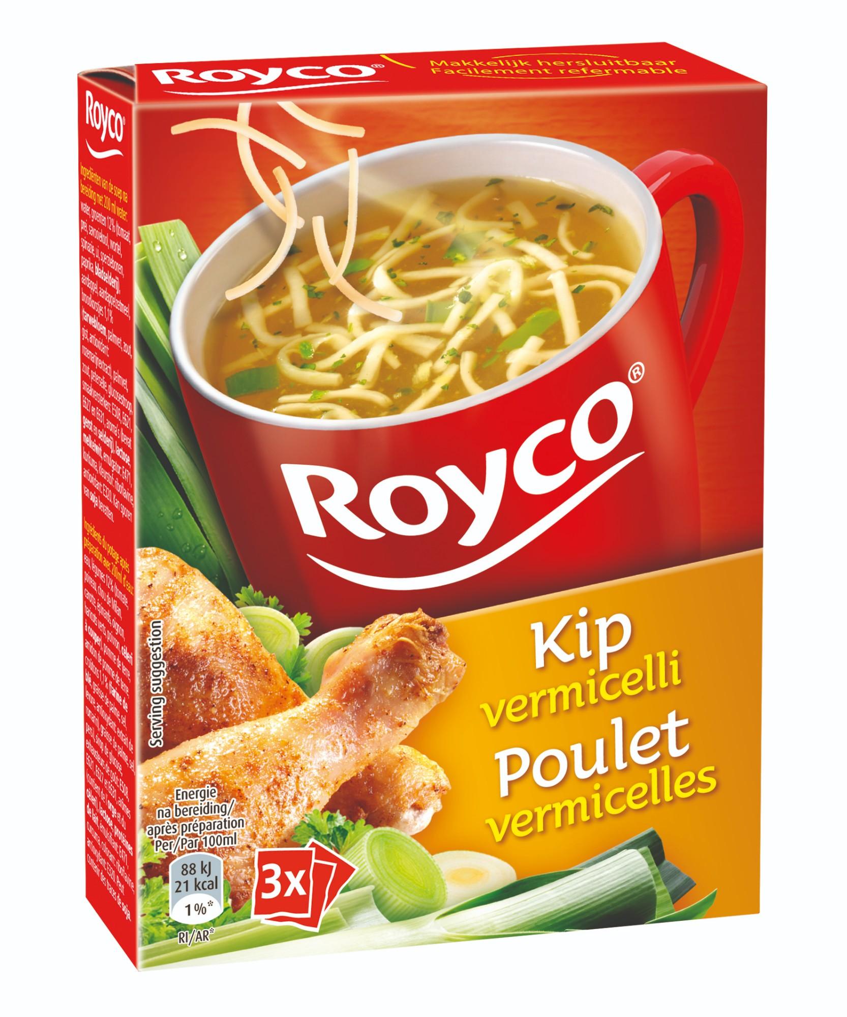 Greitai paruošiama vištienos sriuba su vermišeliais, ROYCO, 3 pak.