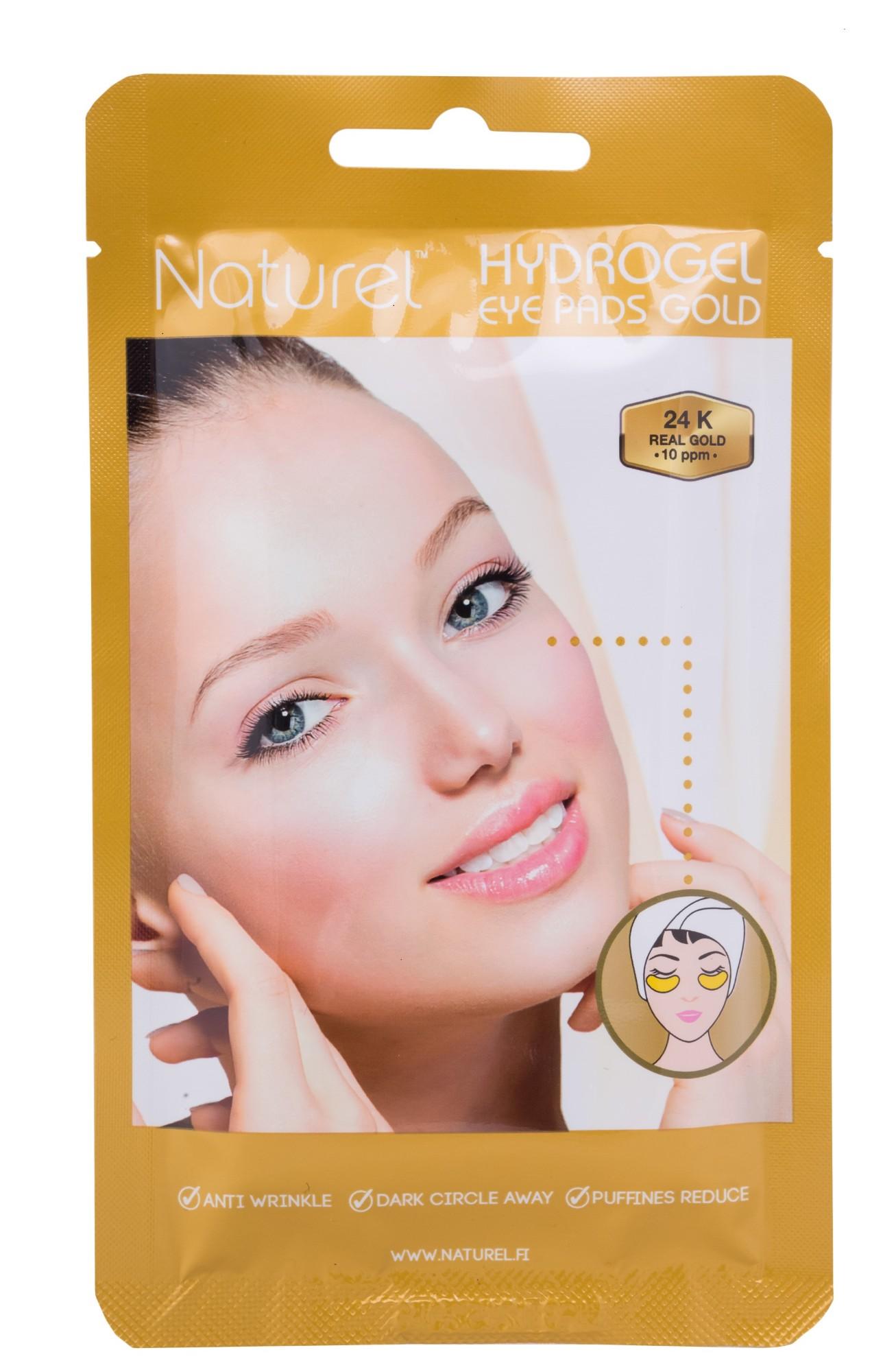 Mažinanti raukšles ir šviesinanti patamsėjimus hidrogelio paakių kaukė Naturel su 24K auksu, 3g