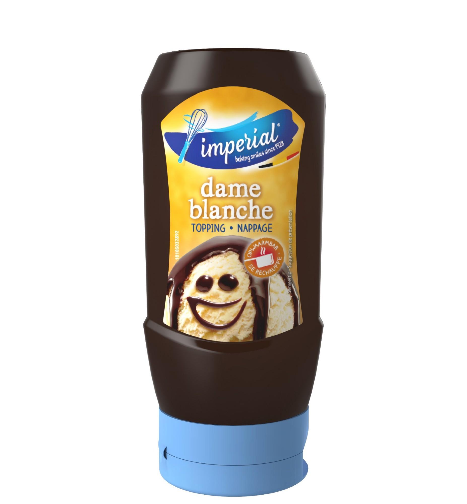 """Desertinis baltojo šokolado skonio padažas """"Dame Blanche"""", IMPERIAL, 290ml"""