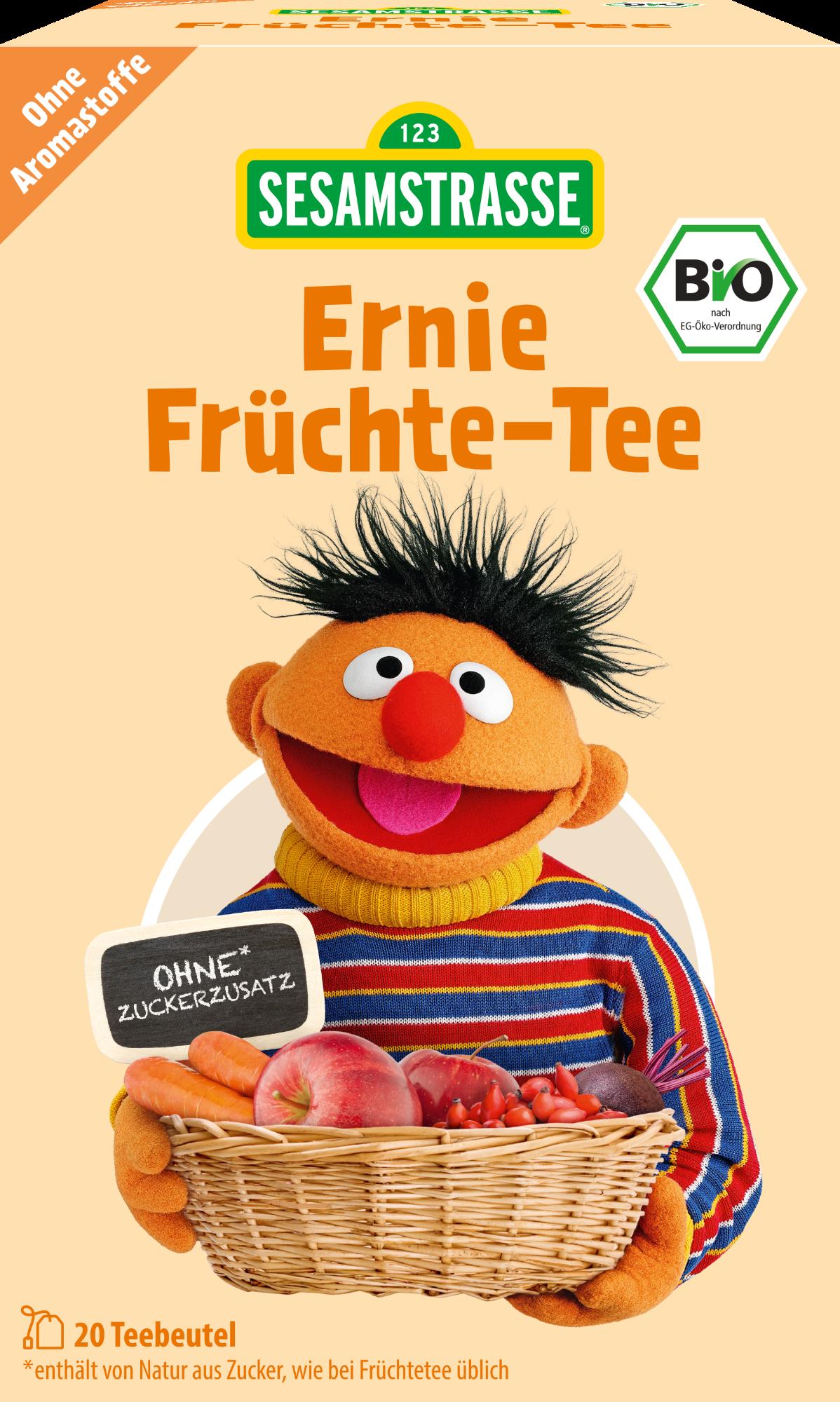 Ekologiška vaisinė arbata  SESAMSTRASSE Ernie, 20×2.25g, 1 vnt.