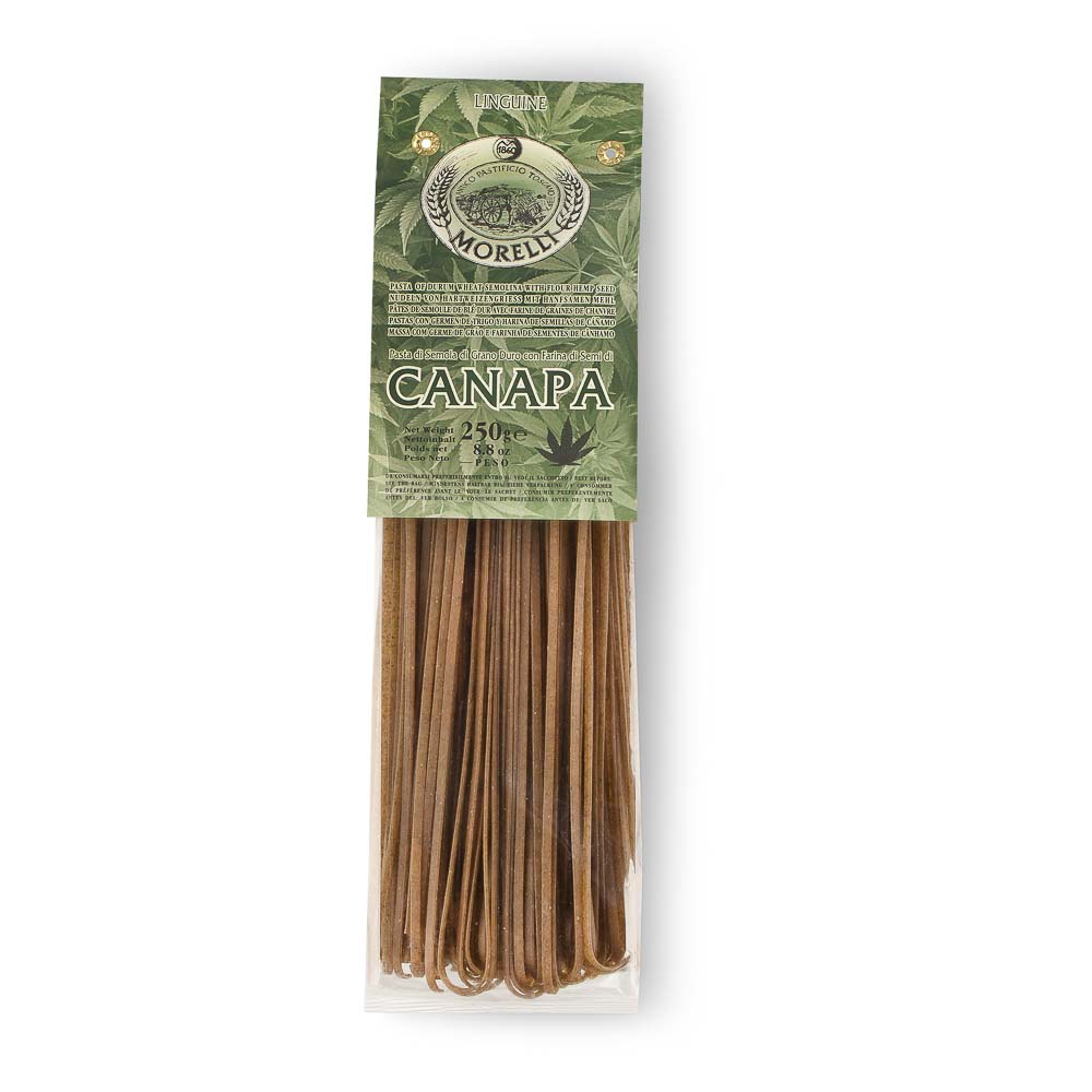 MAKARONAI SU KANAPIŲ SĖKLŲ MILTAIS Linguine Morelli, 250g