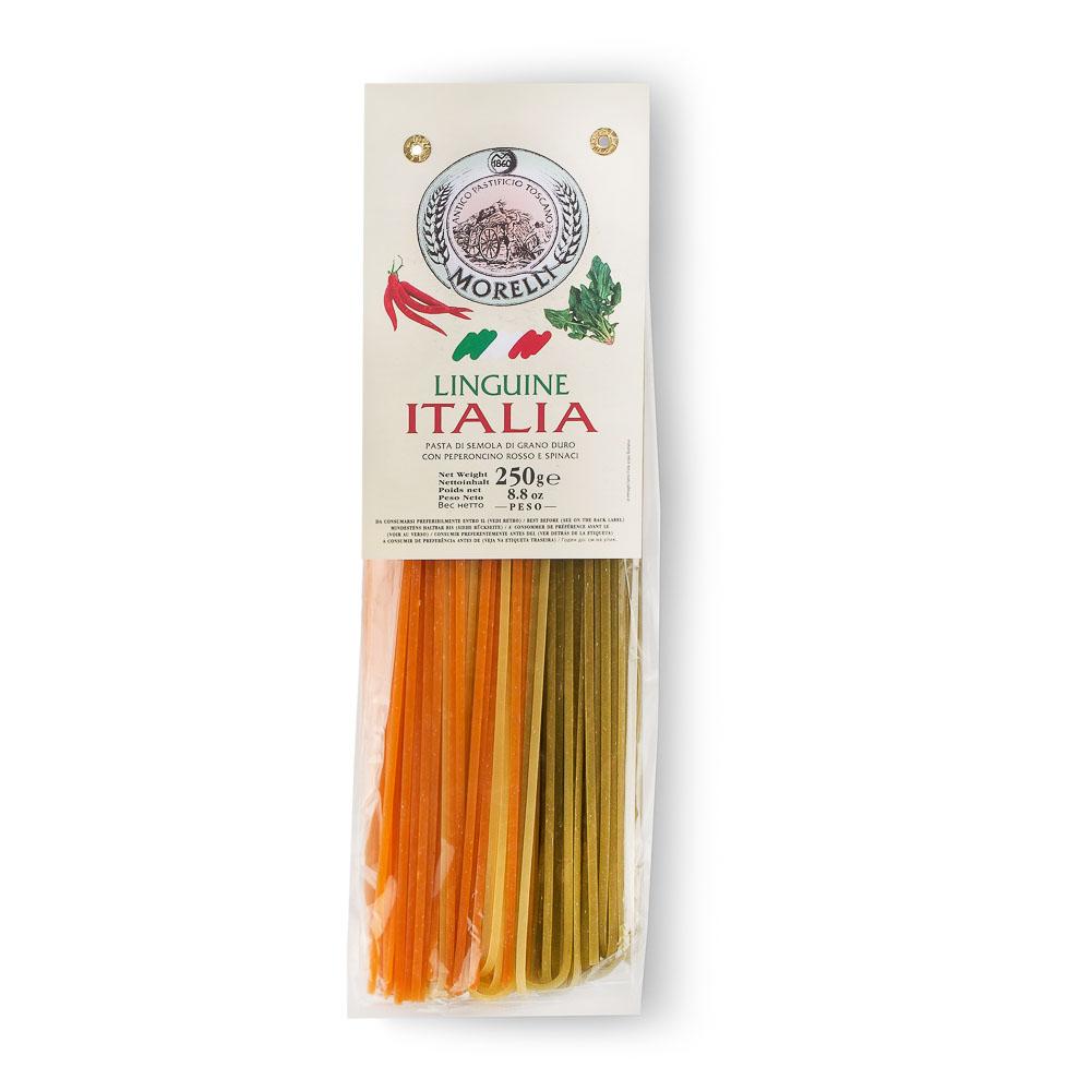 KIETAGRŪDŽIŲ MANŲ KRUOPŲ MAKARONAI Italia Linguine Morelli, 250g