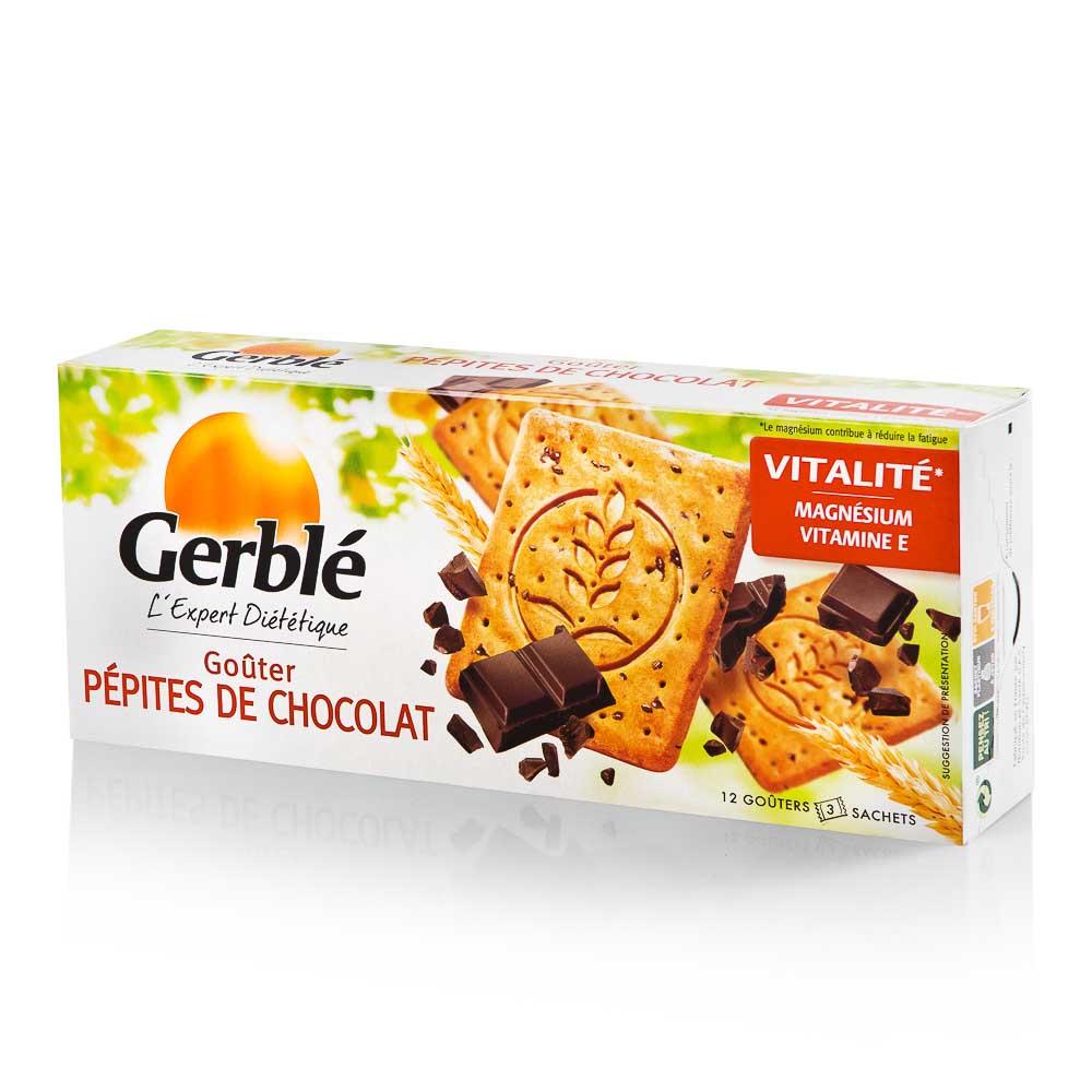 Sausainiai GERBLE su šokolado gabaliukais, 250g