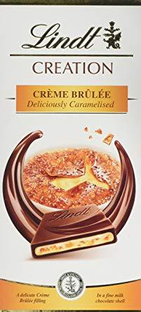 Pieninis šokoladas LINDT su krembriulė, 150g