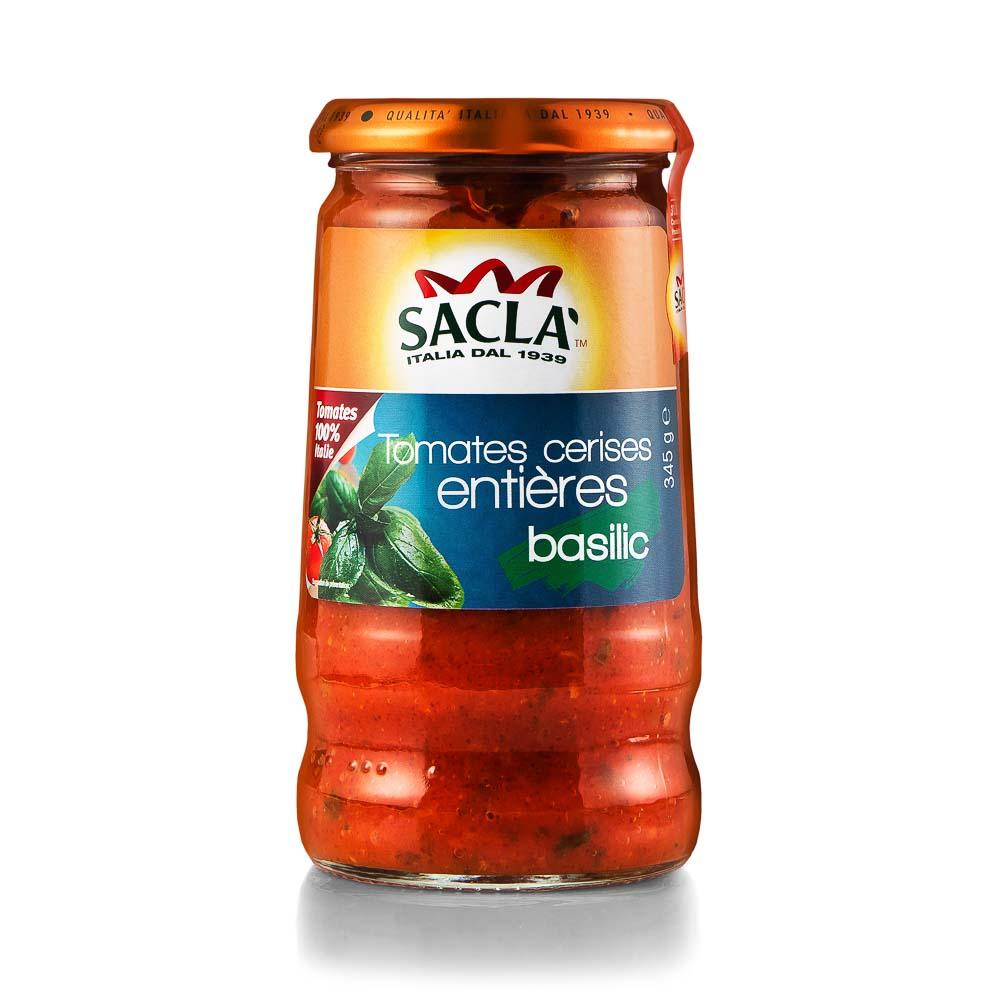 Vyšninių pomidorų padažas SACLA su bazilikais 345g