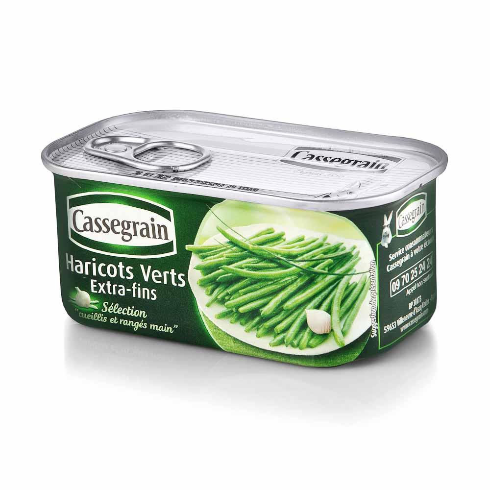 Konservuotos žaliosios šparaginės pupelės CASSEGRAIN, 200 g