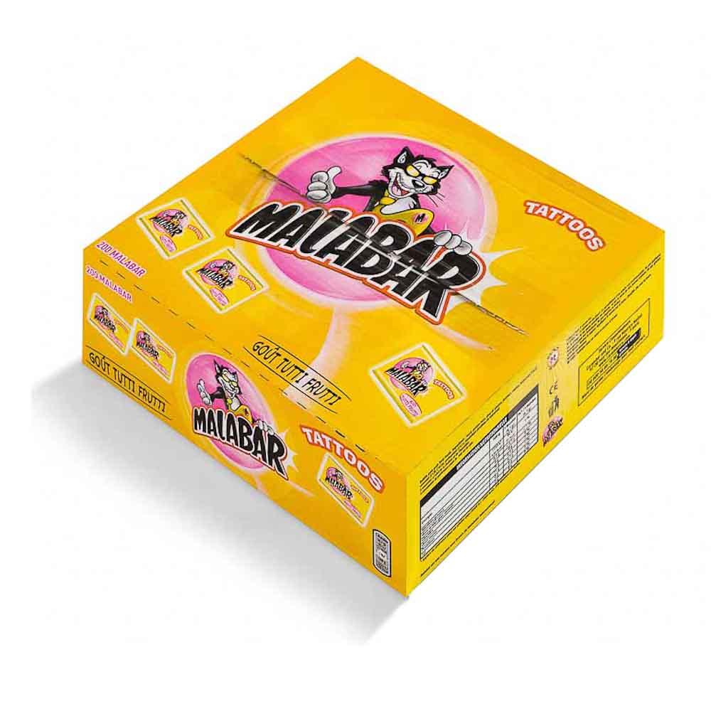 Kramtomoji guma MALABAR Tutti frutti, su lipduku, 6.7 g