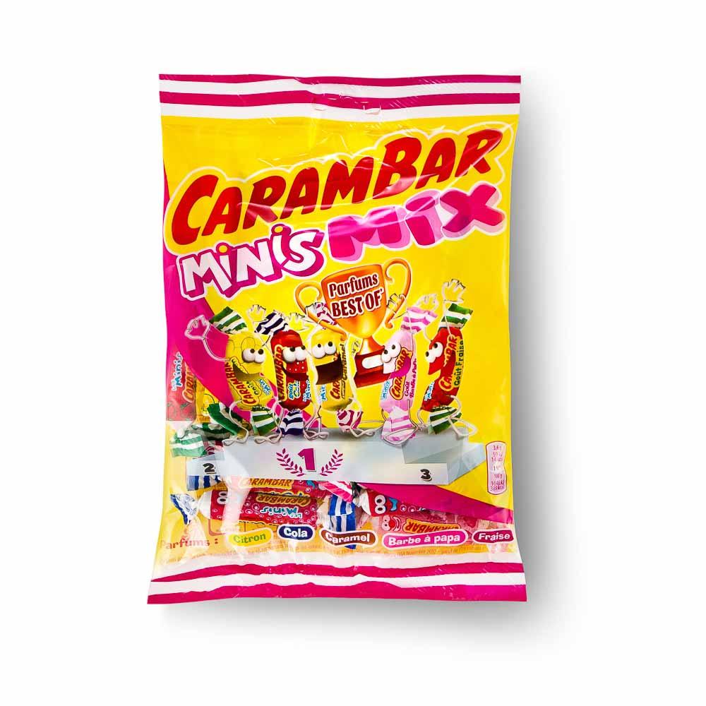 Kramtomi saldainiai CARAMBAR Minis mix, 110 g