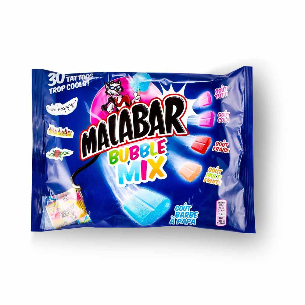 Kramtomoji guma MALABAR Bubble mix su lipduku, 214 g