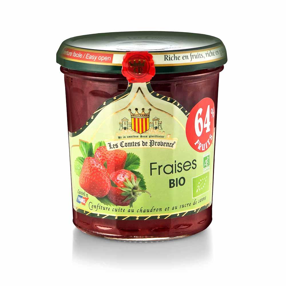 Ekologiškas braškių džemas LES COMTES DE PROVENCE, 350 g