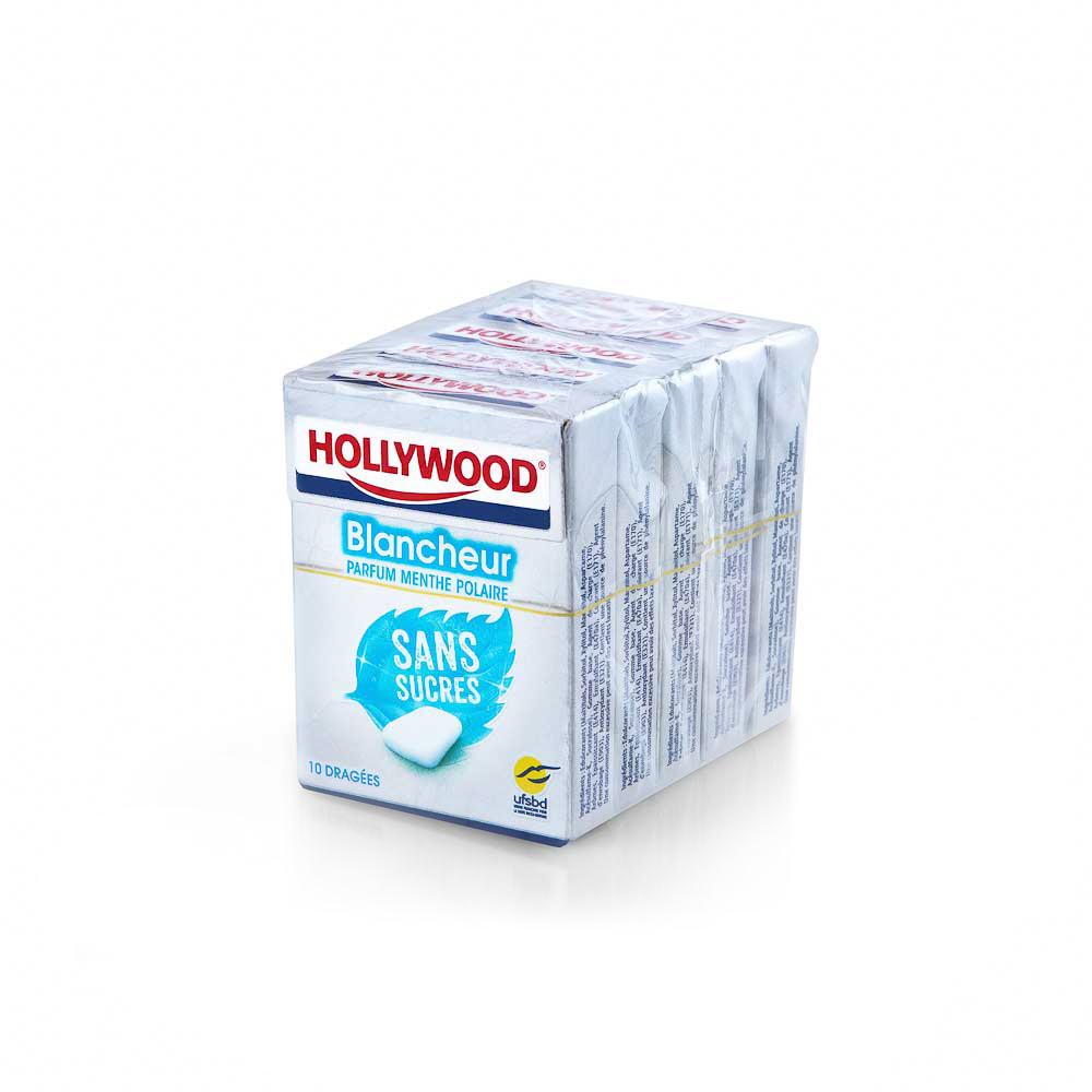 Kramtomoji guma HOLLYWOOD Blancheur, be cukraus, 14 g
