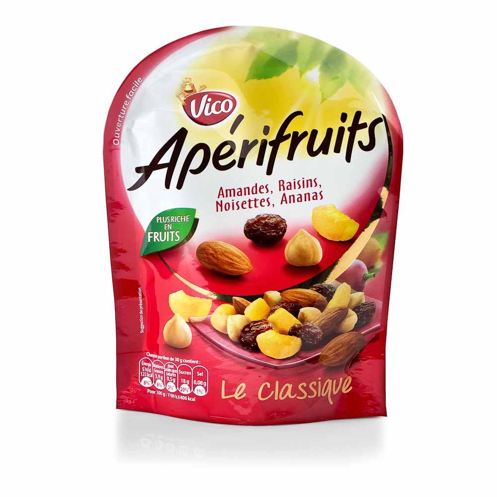 Džiovintų vaisių ir riešutų mišinys VICO APERIFRUITS 100g