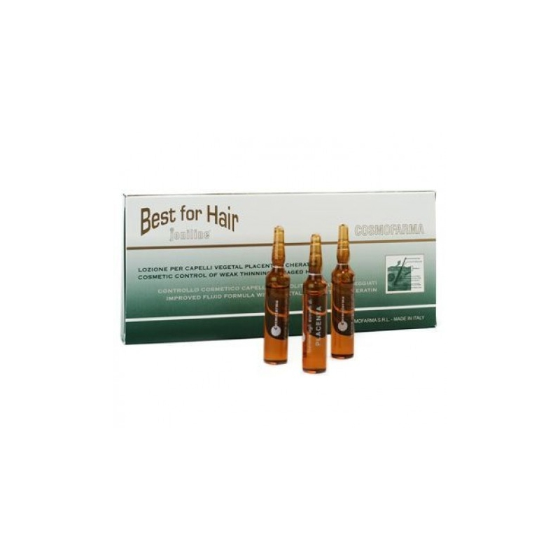 Plaukų šaknis stiprinantis serumas su placentos ekstraktu BEST FOR HAIR, 10 ml