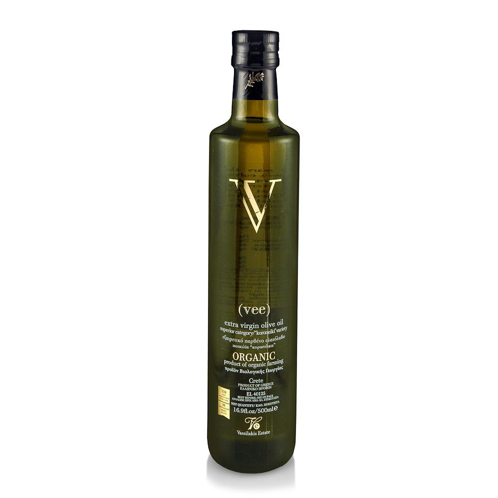 Ekologiškas ypač tyras alyvuogių aliejus V vee VASSILAKIS ESTATE, 500ml