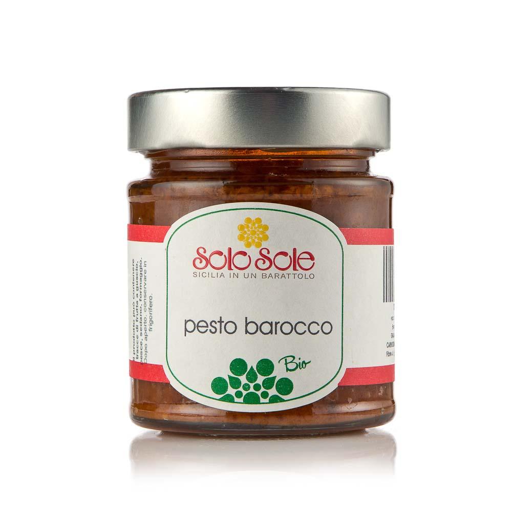 Ekologiškas padažas Pesto Barocco SOLO SOLE, 180g