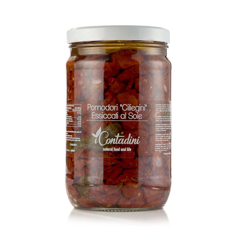 Saulėje džiovinti vyšniniai pomidoriukai ICONTADINI, aliejuje, 1.6kg
