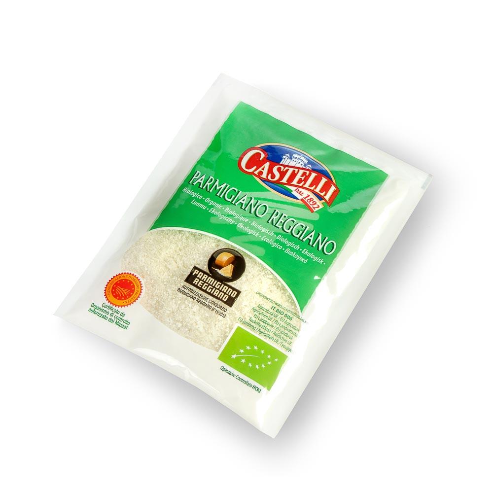 Ekologiškas tarkuotas PARMIGIANO REGGIANO sūris, 28% riebumo, SKVN, 50g