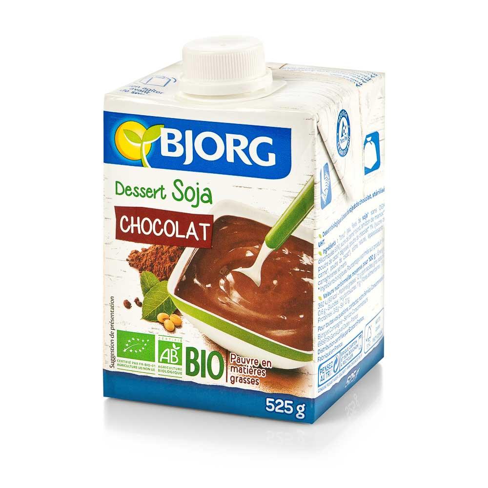 Ekologiškas šokoladinis sojų desertas BJORG, 525g