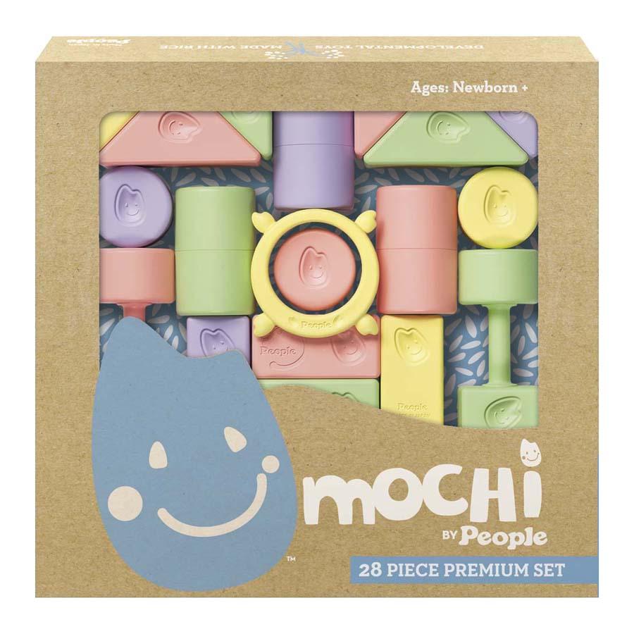 Žaidimo kaladėlių rinkinys MOCHI Blocks Premium (28 dalys) nuo 0 mėn., 1 vnt.