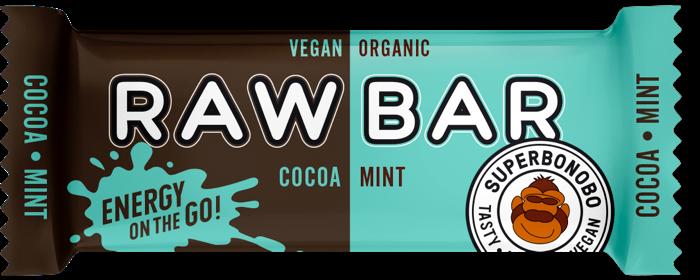 Batonėlis Superbonobo RAWBAR Kakao/Mint