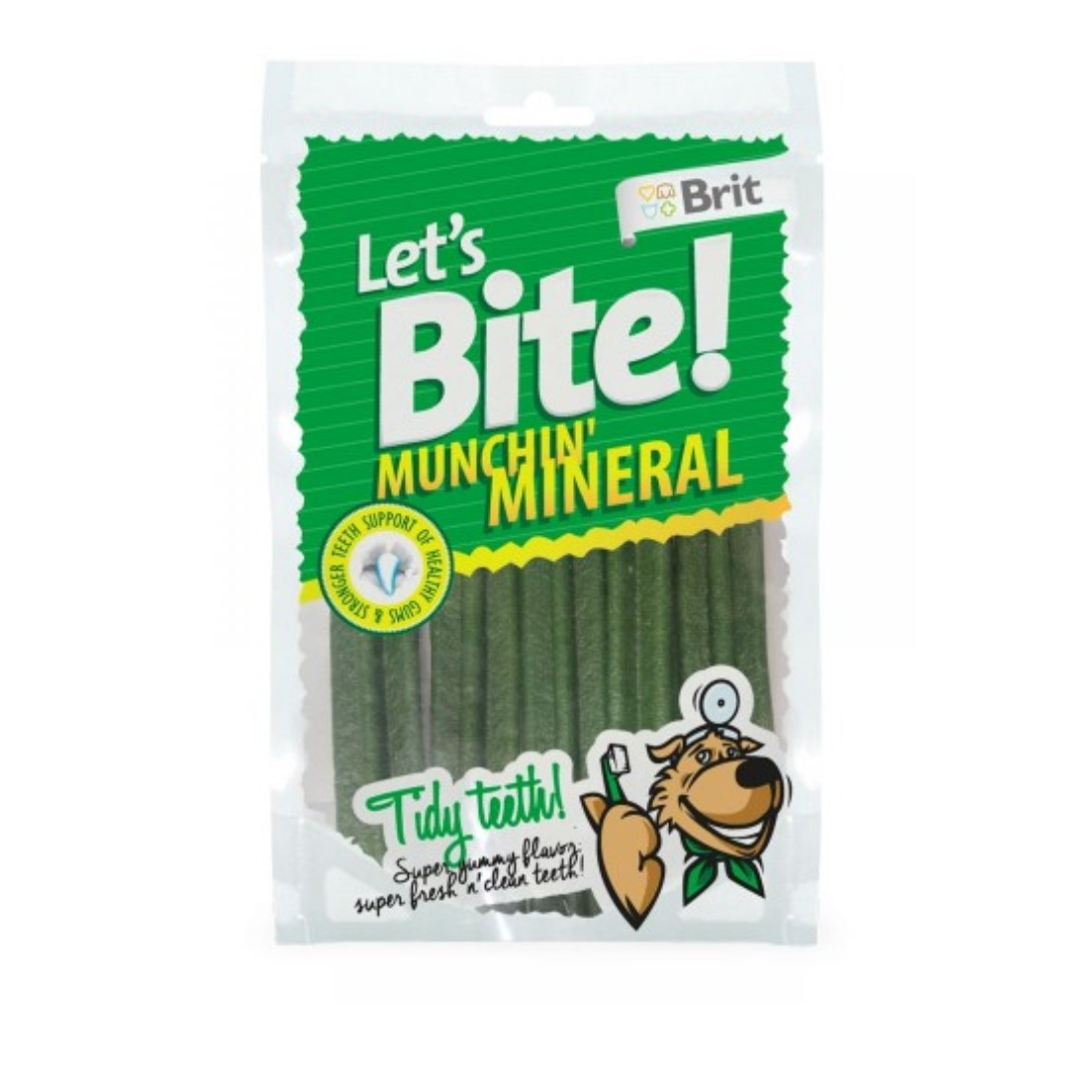 Skanėstas šunims BRIT CARE Lets Bite Munchin Mineral, 105 g