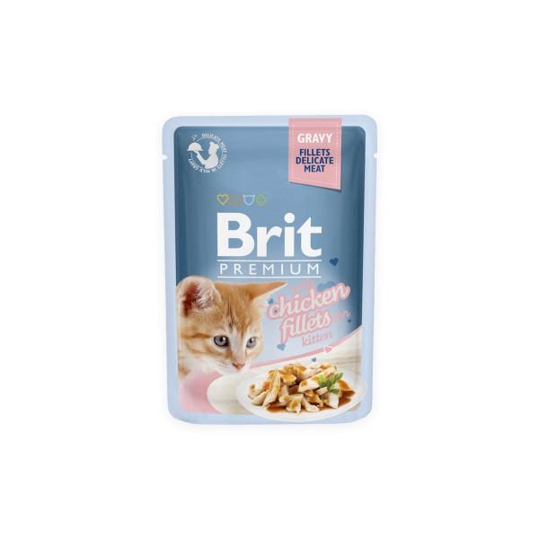 Konservas katėms BRIT PREMIUM Cat Delicate Chicken for Kitten in Gravy, 85 g