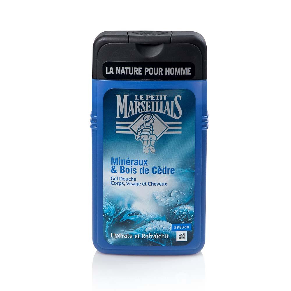 Dušo želė vyrams LE PETIT MARSEILLAIS mineralų ir kedro medienos aromato, 250 ml