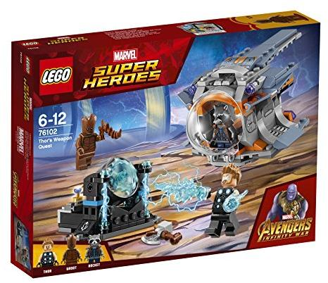 LEGO MARVEL SUPER HEROES Thor's Weapon Quest 6-12 metų vaikams (76102)
