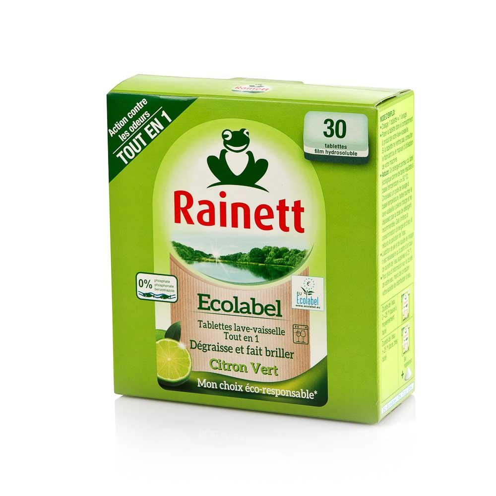 Indaplovių tabletės RAINETT citrinų kvapo, 30 vnt.