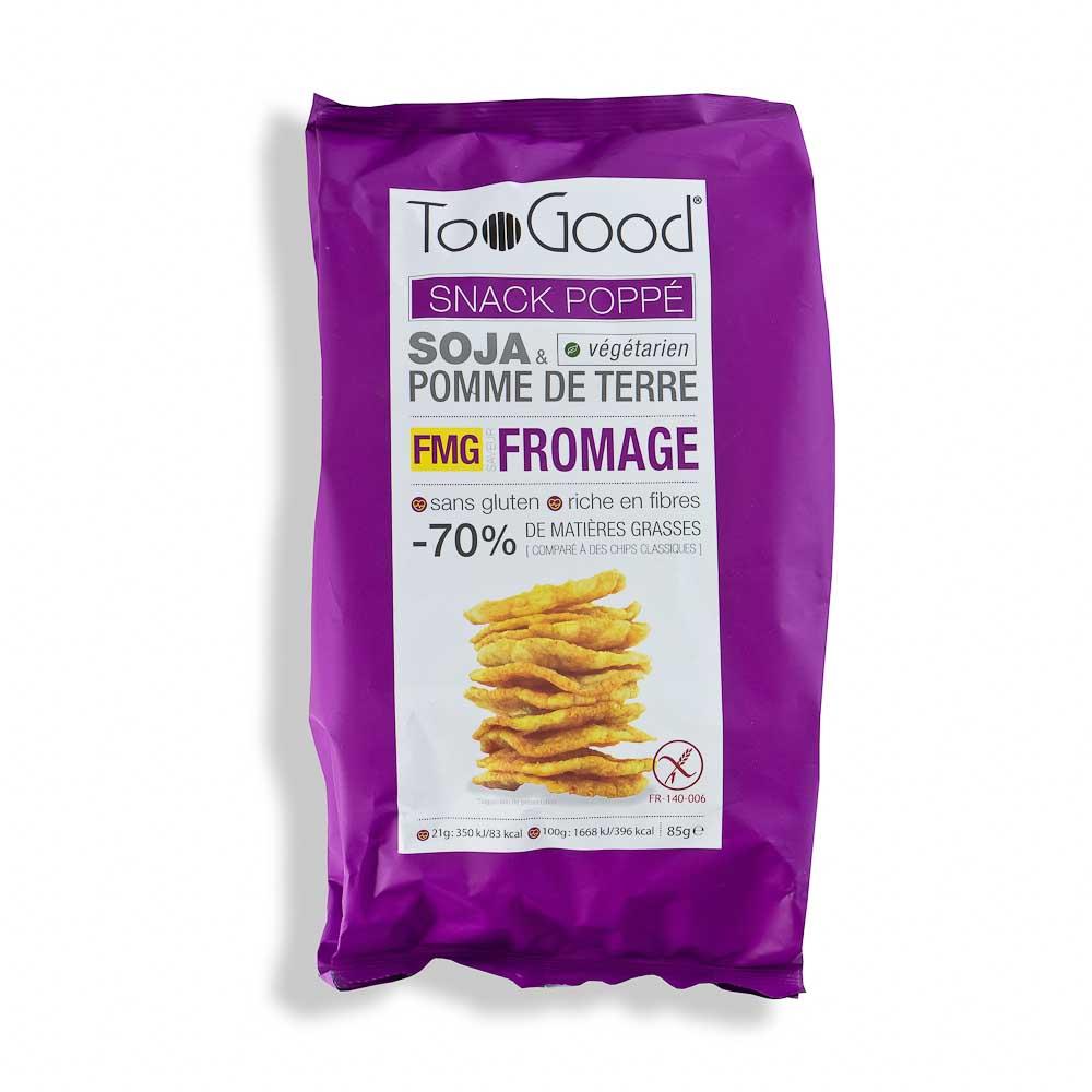 Sojų ir bulvių trapučiai TOO GOOD sūrio skonio 85g