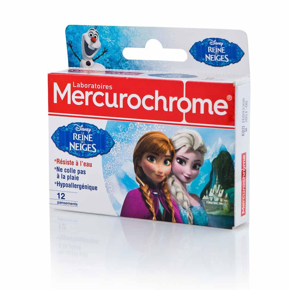 Atsparūs vandeniui hipoalerginiai pleistrai vaikams MERCUROCHROME FROZEN, 12vnt.