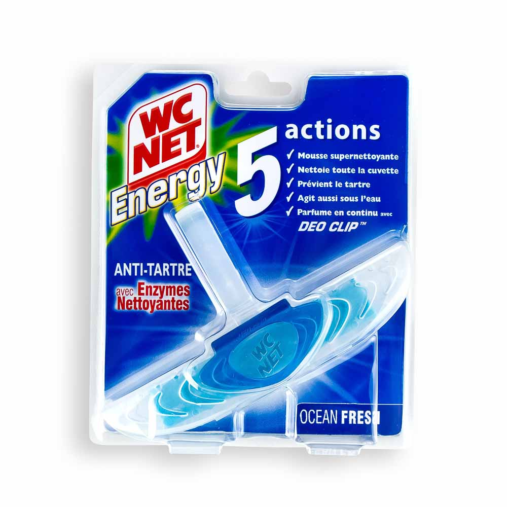 Pakabinamas tualeto muiliukas WC NET ENERGY 5 in 1, 38 g