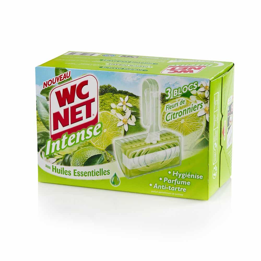 Pakabinamas tualeto blokelis WC NET INTENSE (įvairių kvapų), 3 x 34 g