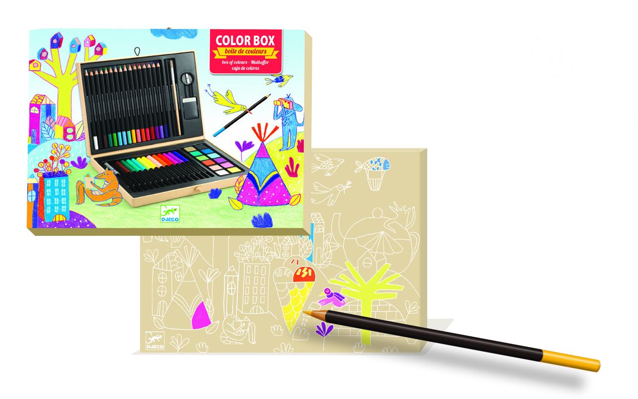 Piešimo priemonių rinkinys DJECO Color Box (DJ08797)