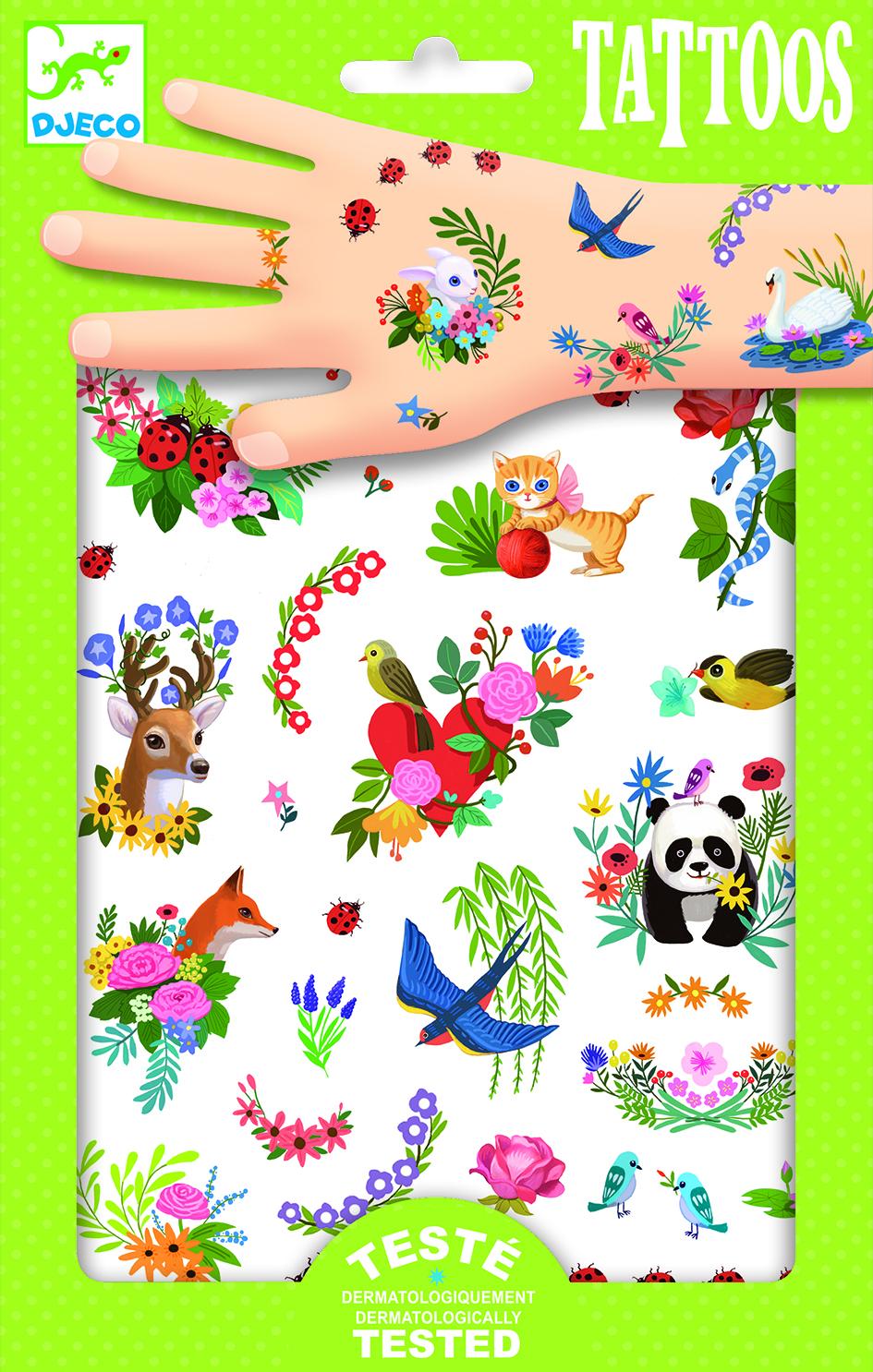 Tatuiruotės vaikams DJECO Happy Spring (DJ09591)
