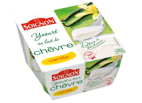 Vanilės skonio ožkų pieno jogurtas SOIGNON, 500g