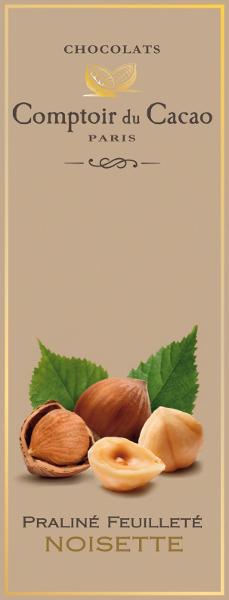 Šokoladas COMPTOIR du CACAO, su lazdyno riešutų įdaru, 80 g