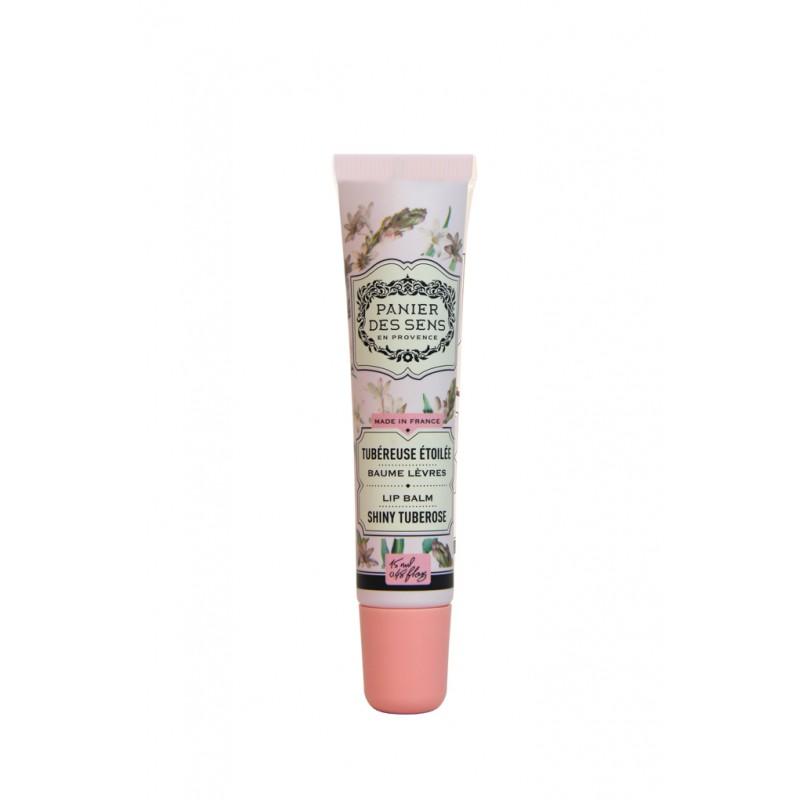 Lūpų balzamas PANIER DES SENS Shiny Tuberose, 15 ml