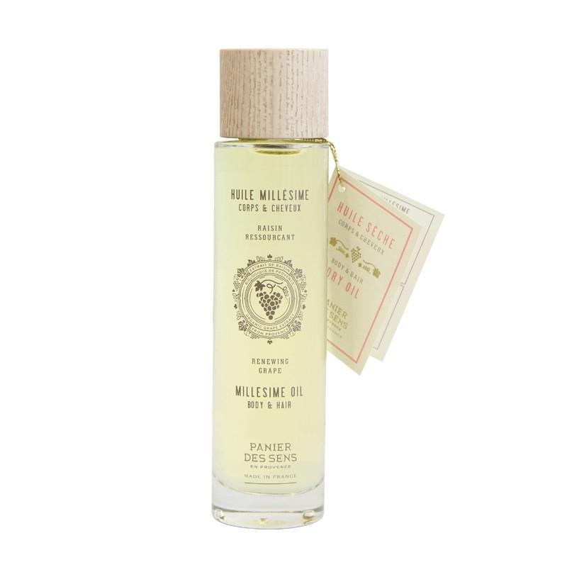 Kūno ir plaukų aliejus PANIER DES SENS su baltosiomis vynuogėmis, 100 ml