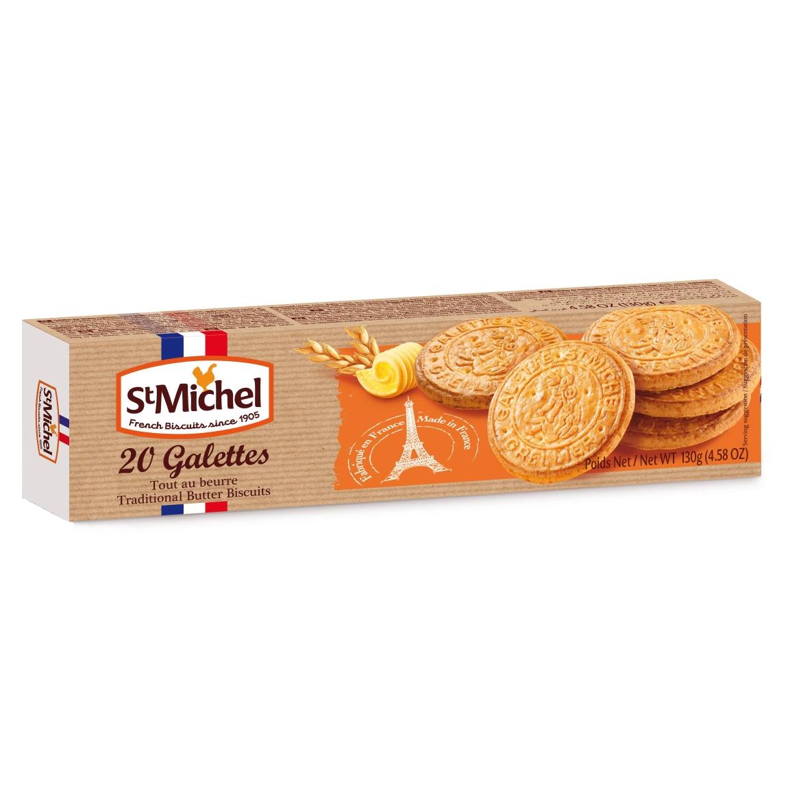 Sviestiniai sausainiai tradicional galettes ST MICHEL, 130g