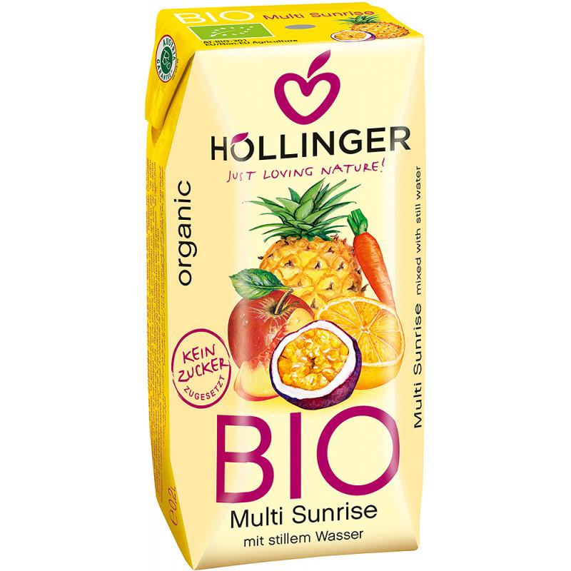 Ekologiškas sulčių gėrimas multi sunrise Hollinger, 200 ml