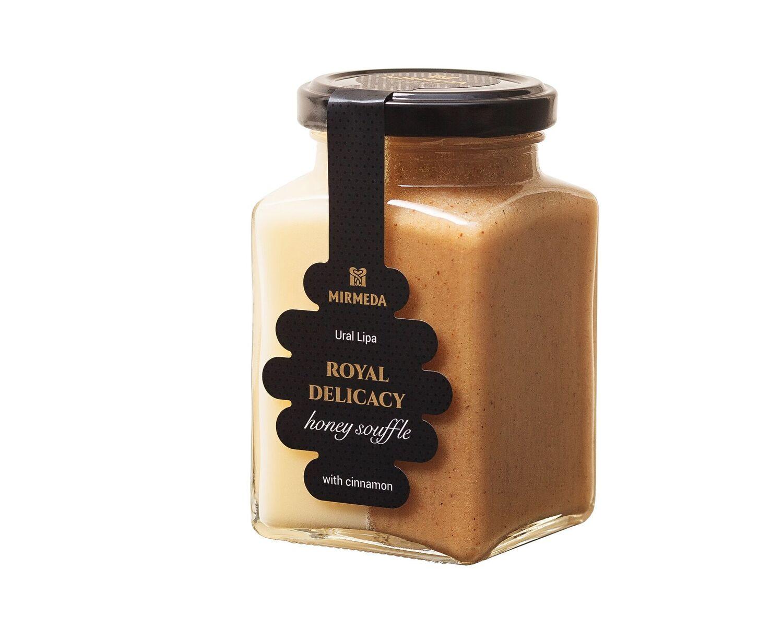 ",,Ural Lipa"" MIRMEDA medus ir medaus plakainis su cinamonu, 340 g"