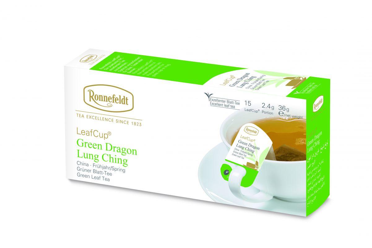 Žalioji arbata LeafCup® Green Dragon Lung Ching 15 vnt