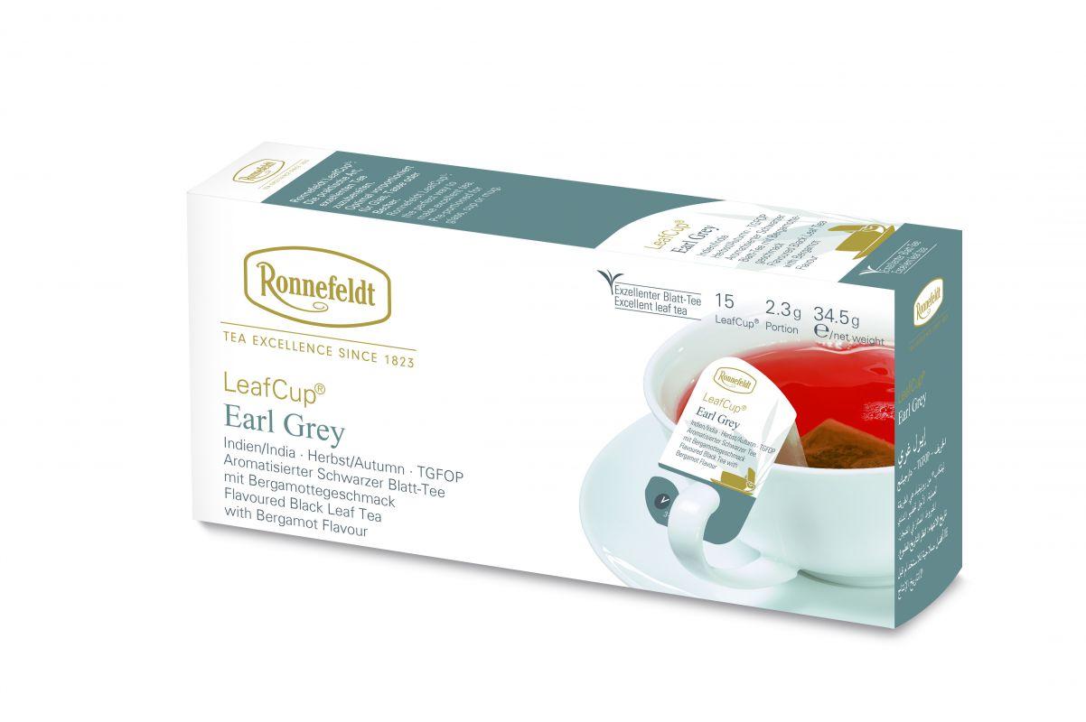 Juodoji arbata LeafCup® Earl grey 15 vnt.